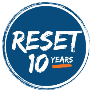 Reset Ministries 10 years logo